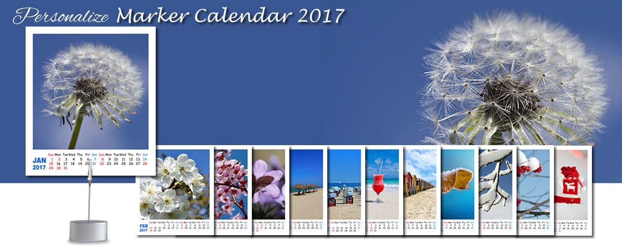 Marker Calendar 2017